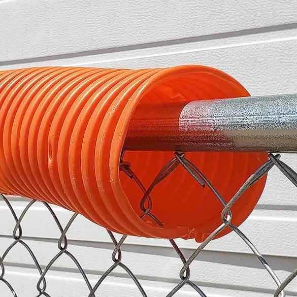 06069  Baseball Fence Poly Cap 250' Fence Topper - Ready To Install (Orange)