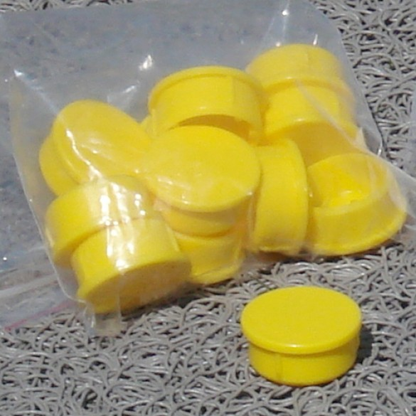 MarkSmart Replacement Ground Socket Plugs for FlexPole and SurePost Poles - (Yellow) - 12 Pack - A-103Y