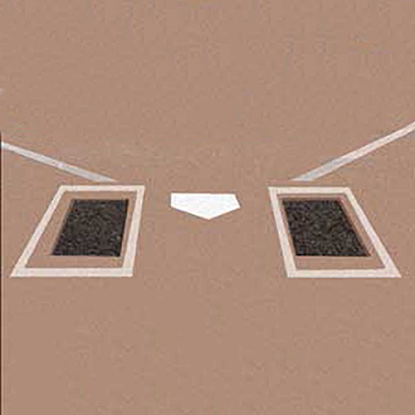 Recycled Rubber Batter's Foundation Box Mats (Pair) - Black - 3240-BBF