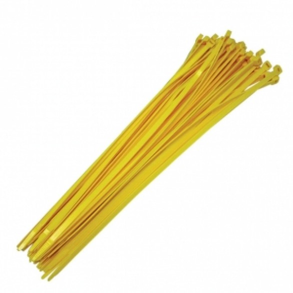 "19"" Yellow Reusable Ties (100 count)"