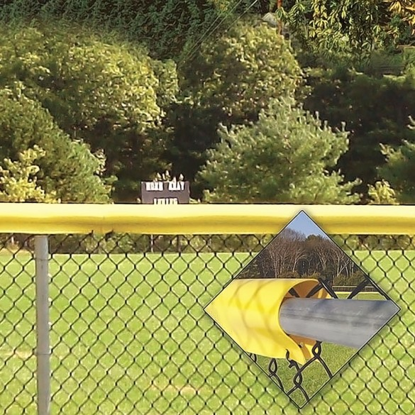 Baseball Safety Top Cap LITE® Fence Guard Cap 80' Long Baseball Fence Topper (Yellow)