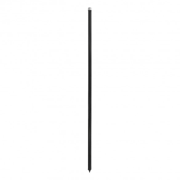 "Heavy Duty Universal 60"" Black Pocket Fence FlexPole for Tempory Baseball Fence (Steel Reinforced Insert) (Plain Post with Post Cap and Point) (Single Pole) - UPBLKS-1"