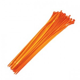 "06071 Baseball Fence Poly Cap 19"" Reusable Ties - 100 Count (Orange)"