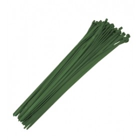 "02374  Baseball Fence Poly Cap 19"" Reusable Ties - 100 Count (Dark Green)"