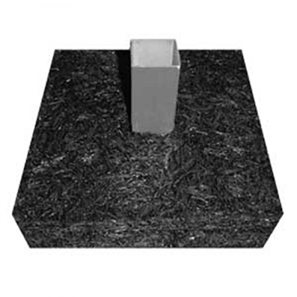 Single PreAssembled Baseball Base Anchor Foundation - 100% Recycled Material Made in USA - PABF-175-1