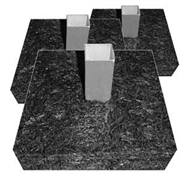 Set of 3 Pre-Assembled Baseball Base Anchor Foundation - 100% Recycled Material Made in USA - PABF-175-3