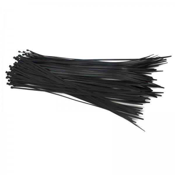 """19"""" Black Reusable Ties (100 count)"""