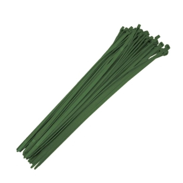 "19"" Dark Green Reusable Ties (100 count)"