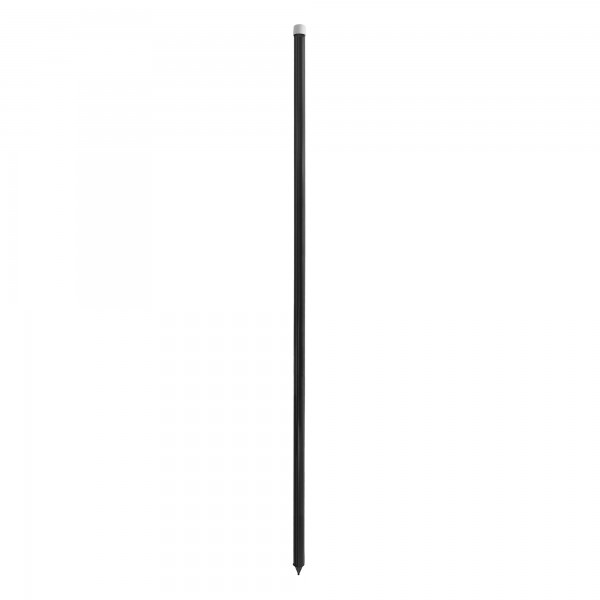 """Heavy Duty Universal 60"""" Black Pocket Fence FlexPole for Tempory Baseball Fence (Steel Reinforced Insert) (Plain Post with Post Cap and Point) (Single Pole) - UPBLKS-1"""