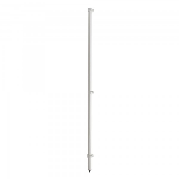 "Heavy Duty 60"" FlexPole SurePost White Pole for Hook N Hang Temporary Baseball Fence - WRHNH-P"