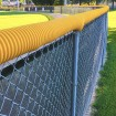 01160 Baseball Fence Poly Cap 100' Fence Topper - Ready To Install (Yellow)