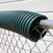 Baseball Fence Poly Cap Fence Topper Sample (Dark Green Sample Shown)