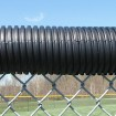 04449 Baseball Fence Poly Cap 250' Fence Topper - Ready To Install (Black)