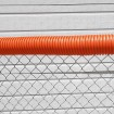 06070 Baseball Fence Poly Cap 100' Fence Topper - Ready To Install (Orange)